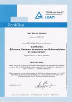 TÜV Zertifikat - Erkennen, Sanieren, Vermeinden von Schimmelpilzen in Innenräumen
